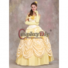 Beauty and the Beast Belle Dress Belle Princess cosplay costume dress V02