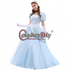 Classic Cinderella Blue Dress Cosplay Costume Princess dress