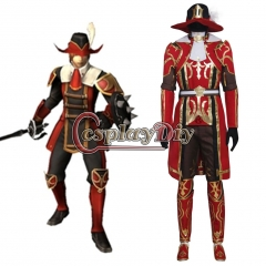 FFinal Fantasy XI 11 Red Mage Cosplay Costume