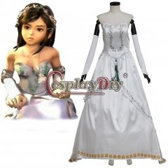 Final Fantasy IX Cosplay Costume Garnet Princess Bride Gown Dress
