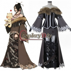 Final Fantasy X Cosplay Costume Lulu Cosplay Dress