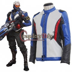 Overwatch OW Soldier 76 John Jack Morrison Cosplay Costume(Only Coat and Gloves)