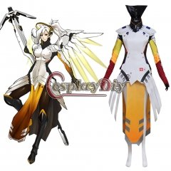Overwatch Mercy Angela Ziegler Cosplay Costume