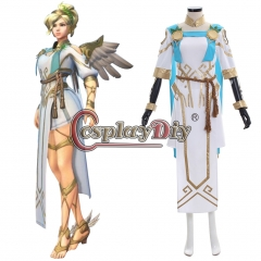 Overwatch OW Summer Games 2017 Winged Victory Mercy Skin Cosplay Costume