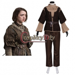 TV Game of Thrones Arya Stark Cosplay Costume Adult Women's Halloween Outsuit Custom Made