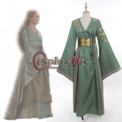 Game of Thrones Cersei Lannister Custom Made Adult Women Vintage Medieval Renaissance Cosplay Costume Green Dress