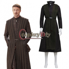TV Game of Thrones Petyr Baelish Little Finger Clothing Brooch Cosplay Costume Adult Men's Halloween Outsuit Custom Made