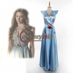 Game of Thrones Margaery Tyrell Blue Dress Elegent Dress Women's Outsutit Wedding Party Cosplay Costume