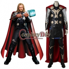 (with shoes)The Avengers Ultron Thor Odinson Cosplay Costume