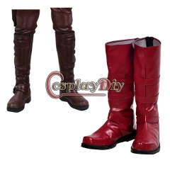 Cosplaydiy Daredevil Cosplay Shoes Red Boot