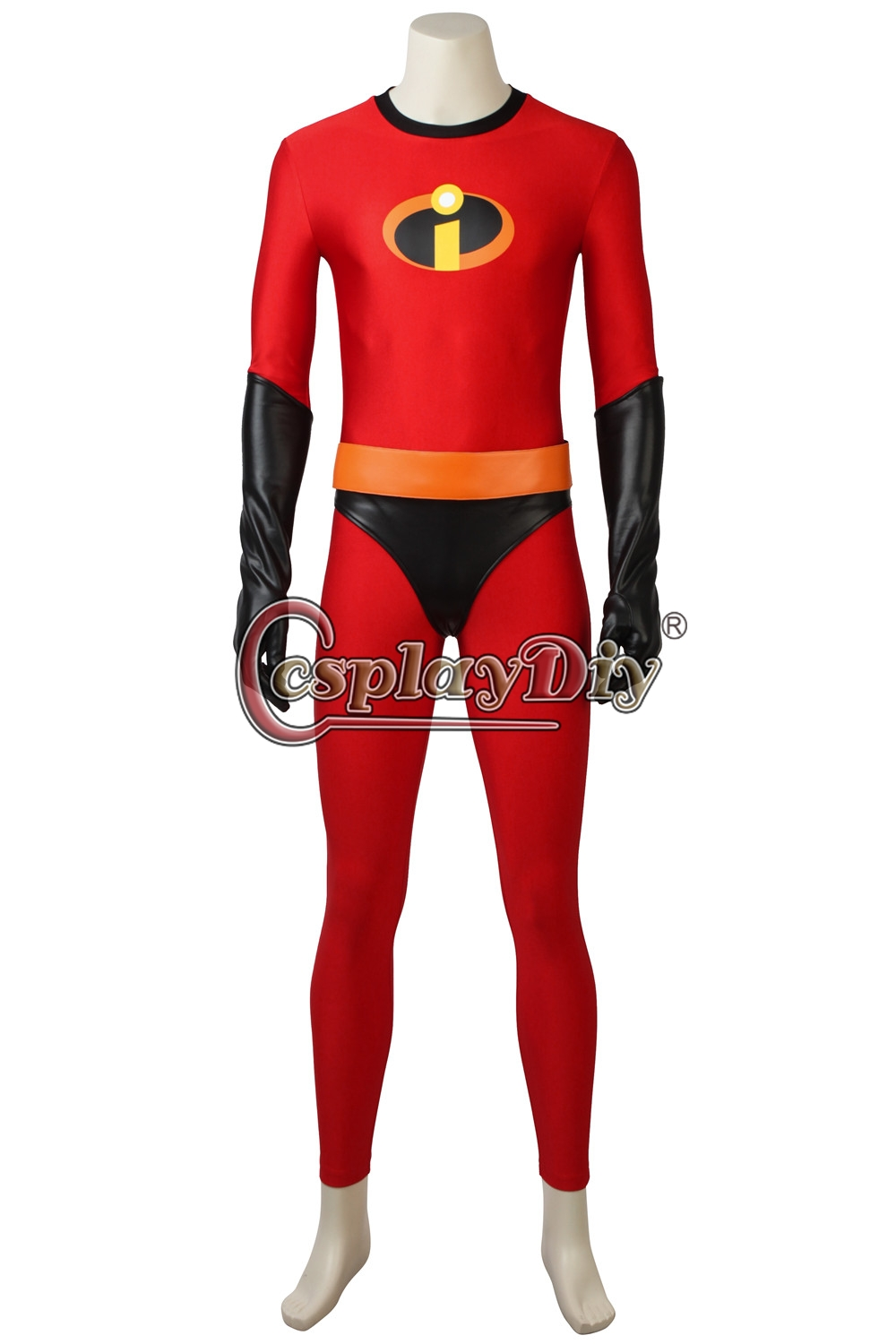 incredibles 2 bob parr mr incredible red jumpsuit for halloween party cosplay costume