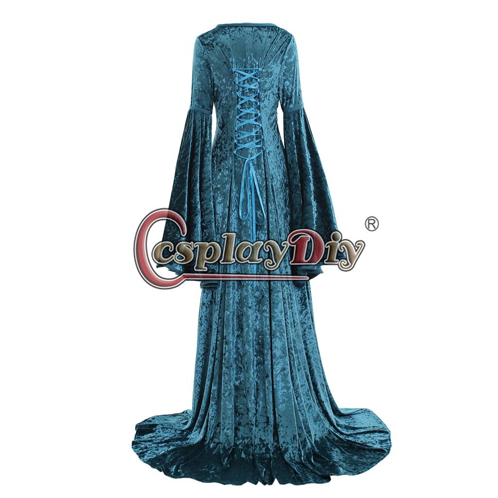 Medieval Dress Renaissance Costume Velvet dress,Medieval Dress