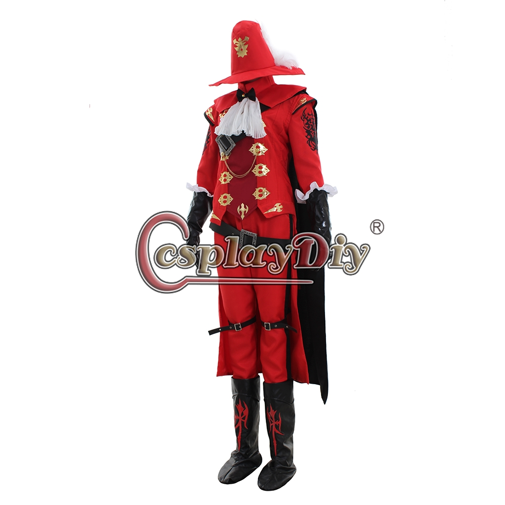 Final Fantasy XIV Red Mage Cosplay Costume,Final Fantasy