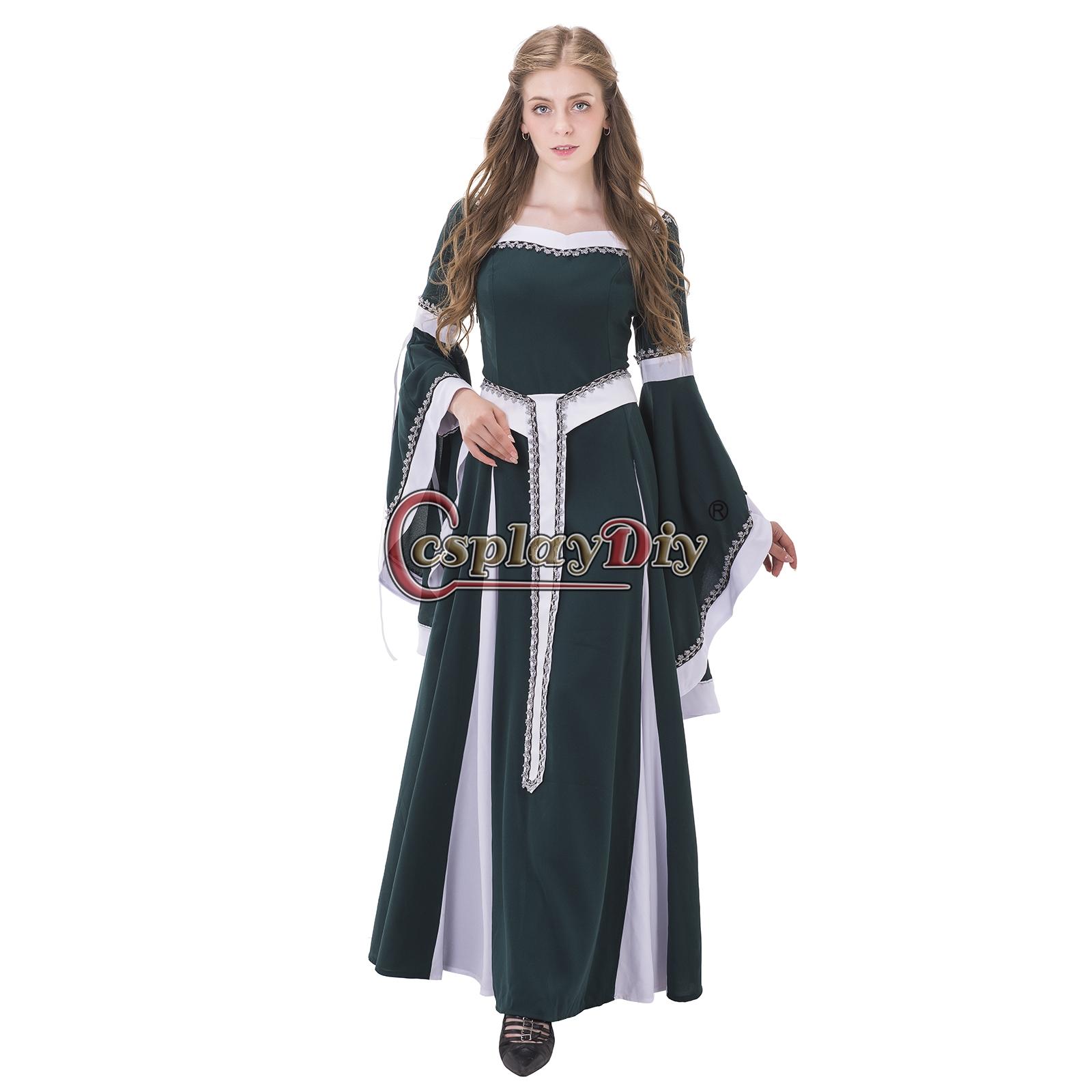 Women Medieval Renaissance Dresses Retro Gothic Place Ball Gown ...