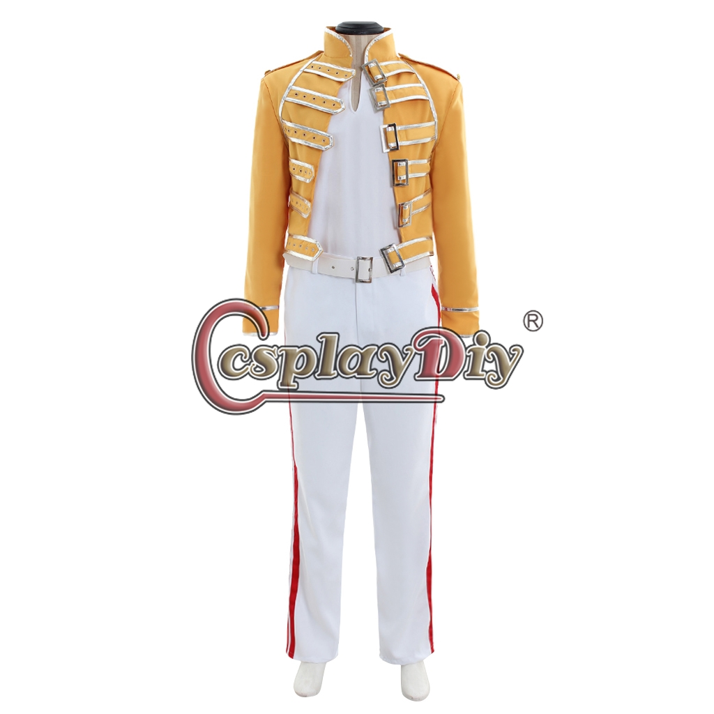 3d6a1d25a1cde Queen Band Cosplay Lead Vocals Freddie Mercury Cosplay Costume