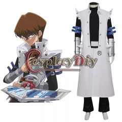Cosplaydiy Duel Monsters GX Seto Kaiba Cosplay Costume For Adult Ousuit Custom Made