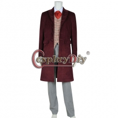 Cosplaydiy Doctor Who 4th Fourth Dr Cosplay Costume Full Set Halloween Costume