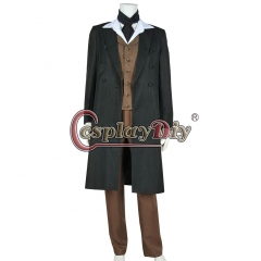 Doctor Who 8th Dr Paul McGann Cosplay Costume Full Set Custom Made