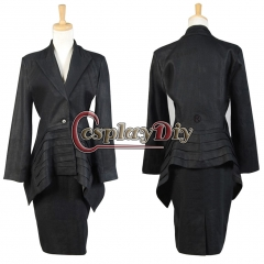 Cosplaydiy Black Dress Suit Costume For Doctor Who Cosplay Custom Made