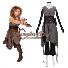 Cosplaydiy Doctor Who River Song (Alex Kingston) Costume Women Cool Outsuit