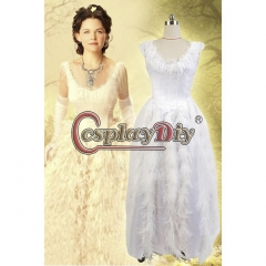 Snow White White Dress Costume for Once Upon a Time Cosplayess