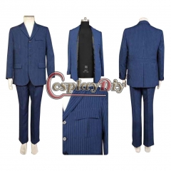Cosplaydiy Doctor Who Dr Blue Cosplay Suit Uniform