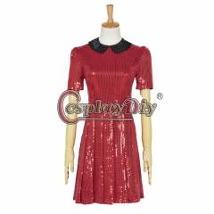 Cosplaydiy Doctor Who 8 The Snowmen Clara Oswald Dress Cosplay Costume Red Dress