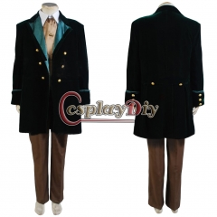 Cosplaydiy 8th Dr.Coat Pants Outfits Costume For Doctor Who Cosplay Costume