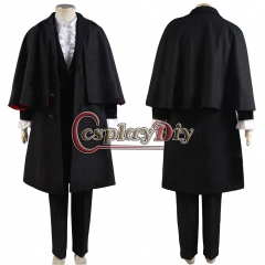 Cosplaydiy Dr. Coat Pants Outfits Costume for Doctor Who Cosplay