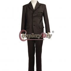 Who will be Doctor Dr Brown Pinstripe Suit blazer pants Costume from Doctor Who