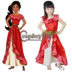 Kids girls children Elena of Avalor Elena Princess Dress Cosplay Costume