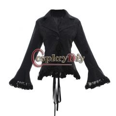 women's vintage Victorian SteamPunk costume lace shirt lace up shirt