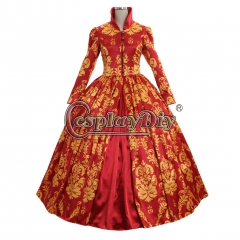 Renassiance Medieval red ball gown dress