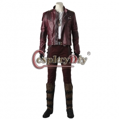 (with shoes) Guardians of the Galaxy star lord Star-Lord Peter Quill Cosplay Costume