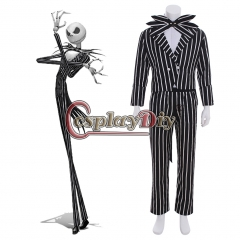 Nightmare before Christmas Jack Skellington cosplay costume stripe outfit