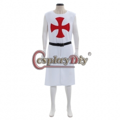 MEDIEVAL KNIGHT WHITE Tunic Crusader Sleeveless Renaissance LARP