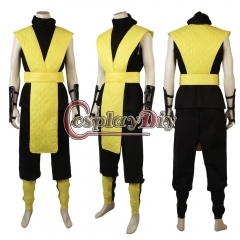 Mortal Kombat Scorpion Cosplay Costume with Mask