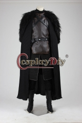 Game of Thrones Season Jon Snow Cosplay Costume Outfit