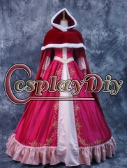 Beauty and the Beast Belle RED Dress Belle ball gown with red cape