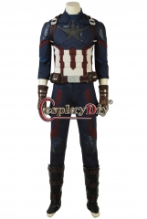 (vest with holes)Avengers Infinity War Captain America Cosplay Costume Steve Rogers suit outfit