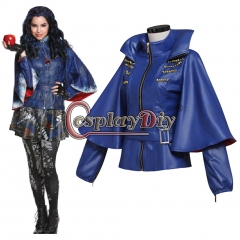 Descendants Evie Blue jacket Cosplay Costume