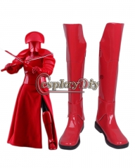 Star Wars 8 The Last Jedi Praetorian Guard Red Cosplay Boots shoes