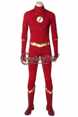 (with shoes)The Flash Season 5 Barry Allen Flash Cosplay Costume