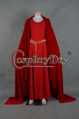 Game of thrones Melisandre red dress ball gown cosplay costume