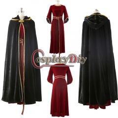 Tangled Rapunzel Mother Gothel cosplay Costume dress Witch Gothel Dress
