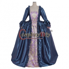 18th Rococo Marie Antoinette Baroque dress blue dress