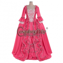 18th Rococo Marie Antoinette Baroque dress pink dress