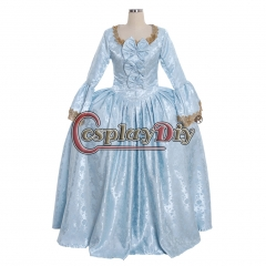 18th Rococo Marie Antoinette Baroque blue ball gown