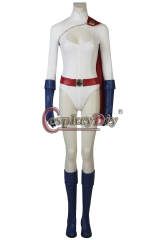 (with shoes)Power Girl Kara Zor-L cosplay costume outfit