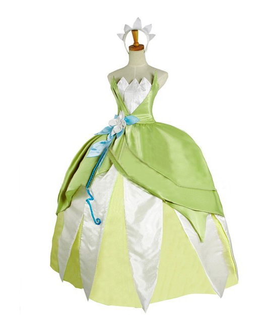 THE Princess and the Frog Tiana Dress Costume